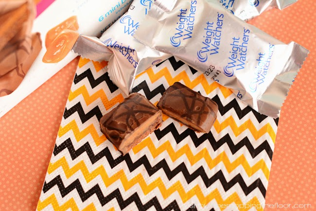 DIY Halloween Treat Bag | Fill it with Weight Watchers Salted Caramel Bars!