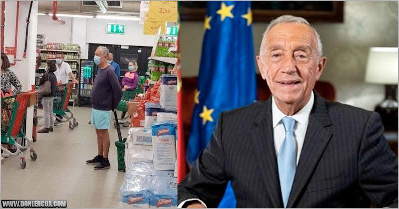 Presidente de Portugal causó el furor al ser fotografiado en la cola del supermercado