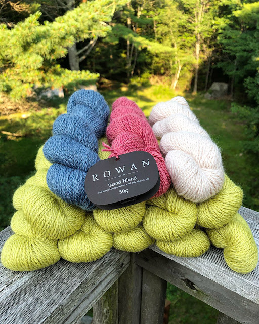 Island Blend yarn from Rowan Yarns, blogged by Dayana Knits