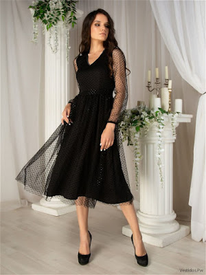 Vestidos de Cóctel Negro