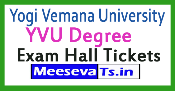 Yogi Vemana University YVU Degree Exam Hall Tickets 2017