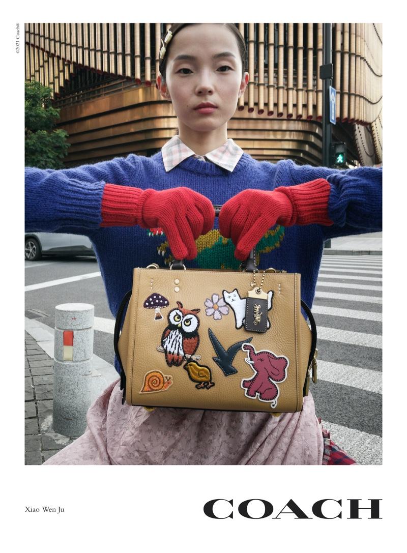 Xiao Wen Ju fronts Coach Rogue Bag campaign