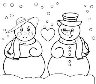 זוג של בובות שלג איש ואישה
