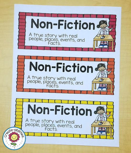 Nonfiction Library Labels