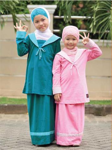 Contoh Baju Muslim Anak Perempuan Usia 6 Tahun