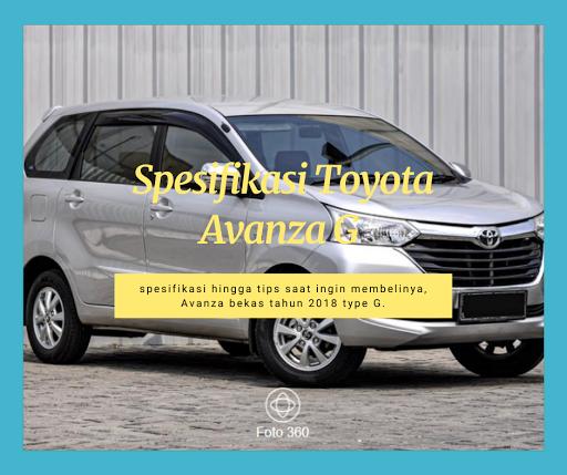 Spesifikasi Toyota Avanza G 2018