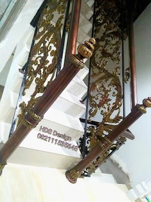 railing tangga klasik modern