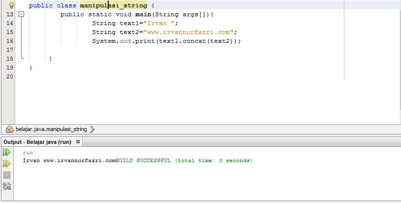 Manipulasi tipe data string concat() - #IRVANGEN