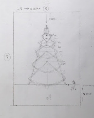 Pine Tree Basics, 5x7 inches, pencil drawing ©2020 Tina M.Welter