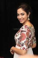 Ritu Varma smiling face Cream Anarkali dress at launch of OPPO New Selfie Camera F3 ~  Exclusive 036.JPG