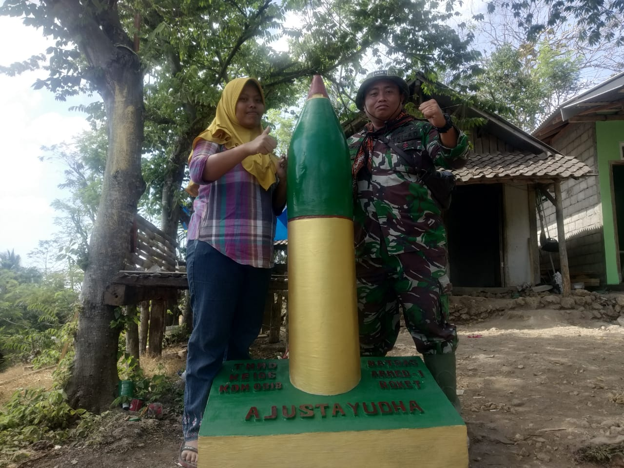 Tugu Armed 1 Jadi Bukti TMMD 106 Kodim 0818