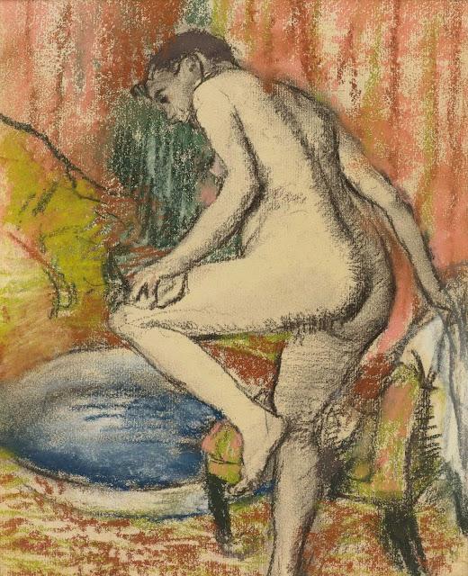 Эдгар Дега - После купания (1883) 2