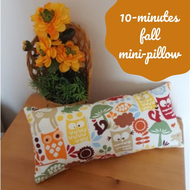 10-minutes fall mini-pillow DIY