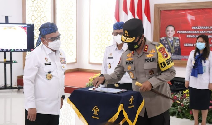 Jalin Sinergitas, Polda Banten dan Kanwilkumham Tandatangani Komitmen Bersama