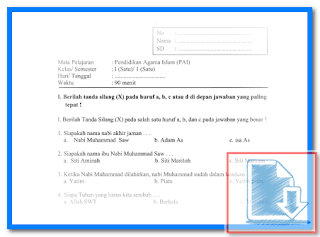 Download Soal Latihan UAS SD Kelas 1 Lengkap Semua Mata Pelajaran