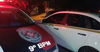 Homem pega táxi em Campina Grande e assalta taxista próximo a Picuí