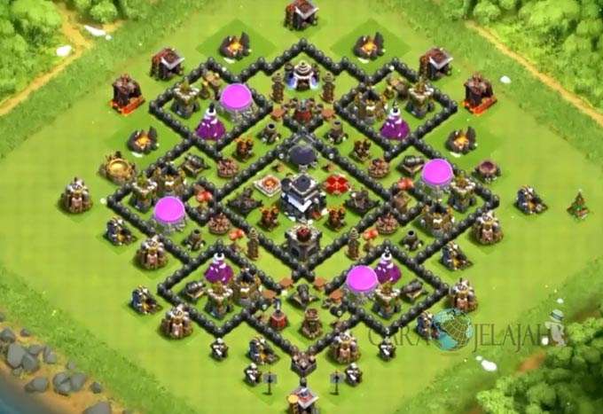Base Trophy TH 9 COC Update Bomb Tower Terbaru 2017 Tipe 17