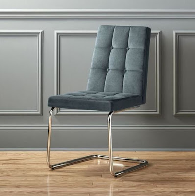 Roya Slate Blue living room side chair designed by Jannis Ellenberger