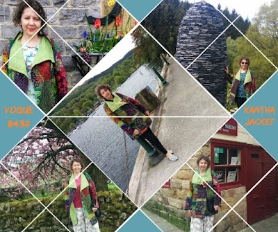 Creates Sew Slow: Vogue 8430 MT Green/Pink Kantha Jacket