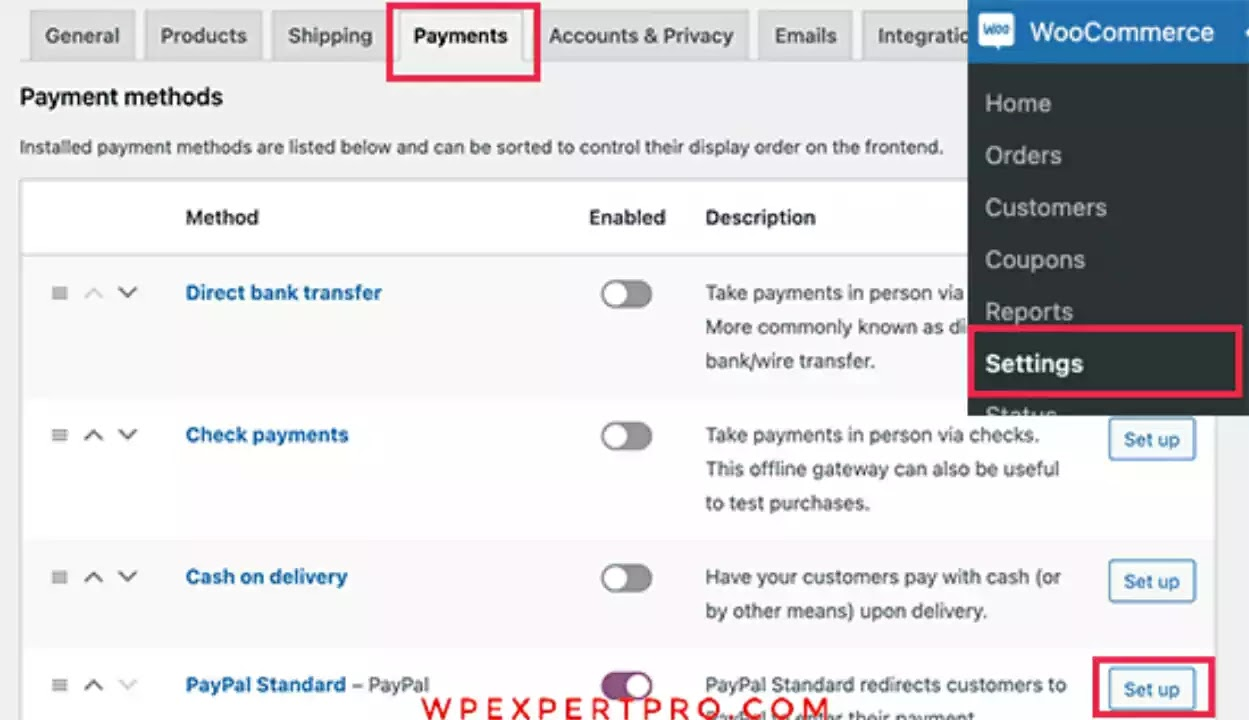 Select payments