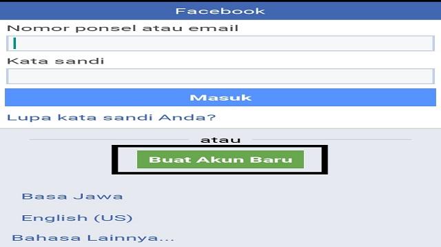 Cara Membuat 2 Facebook Dalam 1 Aplikasi