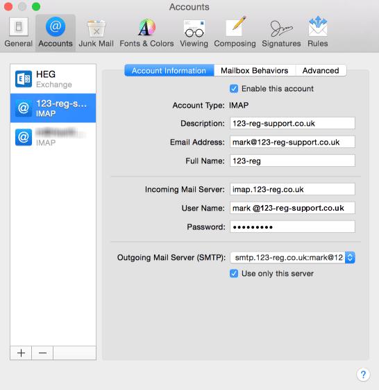 Roadrunner email settings for iphone