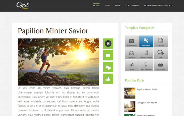 Opal Responsive Blogger Template