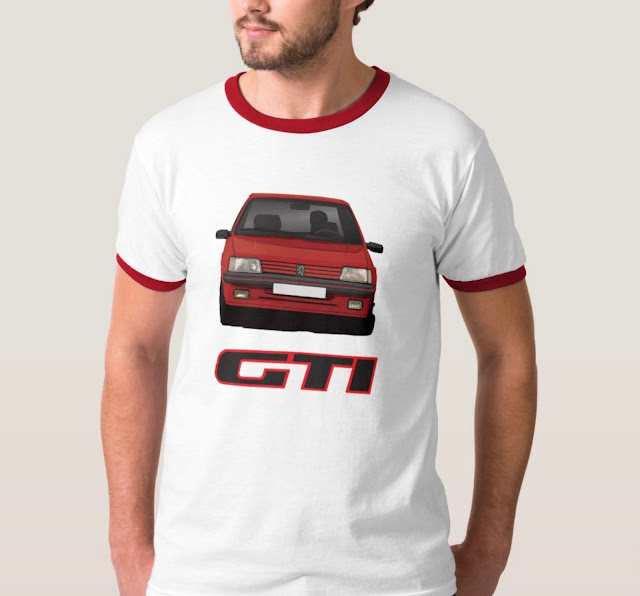 Peugeot 205 GTi T-shirt with GTI-badge