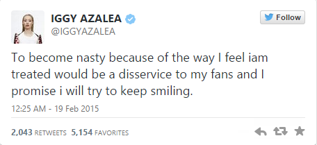 Tweet From Iggy Azalea