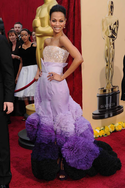 Oscar 2010 Zoe Saldana vestida de Givenchy