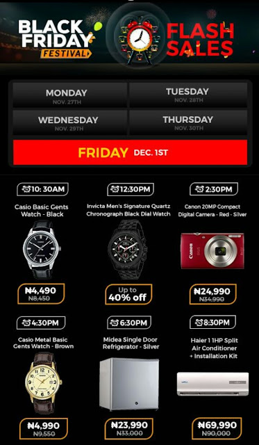 Jumia Black Friday Festival Day 19 Deals 1st December 2017