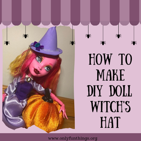 How to Make DIY Doll Witch Hat / DIY Miniature Witch Hat