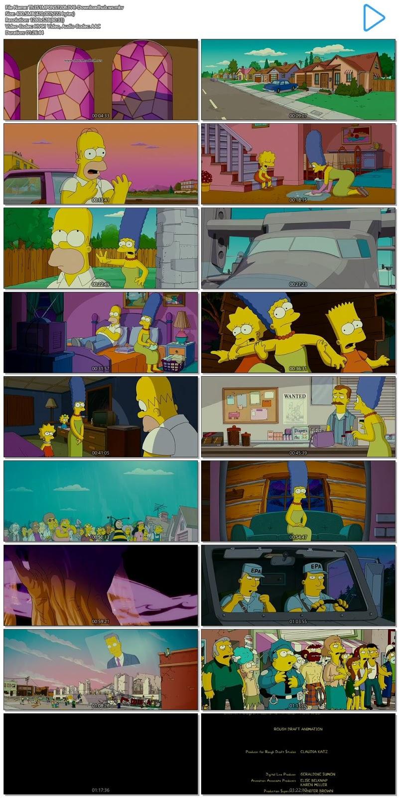 The Simpsons Movie 2007 English 720p HEVC BRRip ESubs