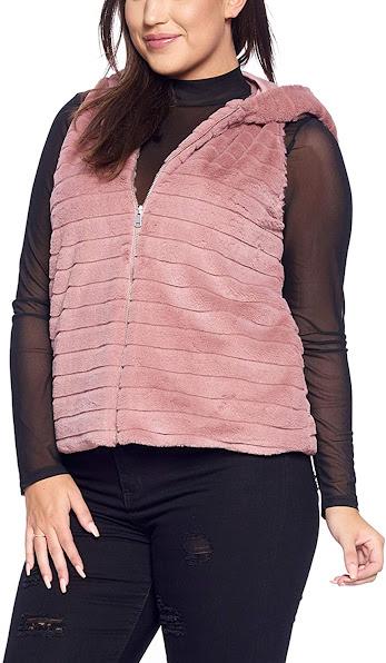 Women's Plus Size Faux Fur Vests