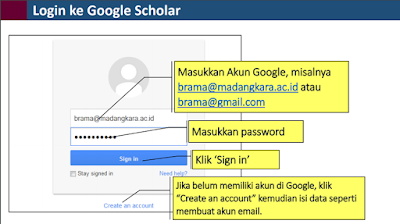 Cara Login ke Google Scholar