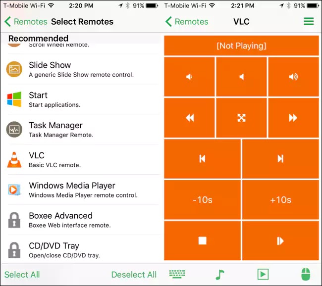 Unified Remote تطبيق