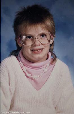 schreckliche Kinderfotos von früher - Igel Frisur lustig
