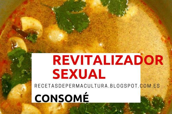Receta de Consomé o Sopa como Revitalizador Sexual