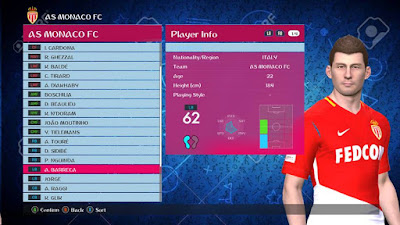 PES 2017 Option File PES Professionals Patch 2017 Update 10/07/2018