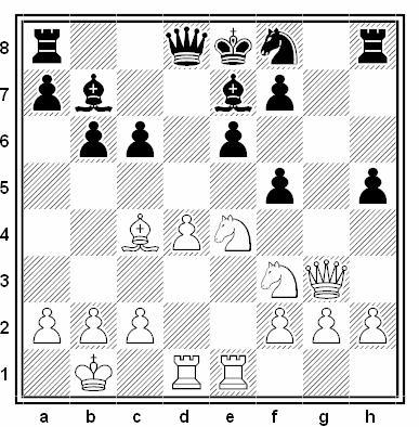 Posición de la partida de ajedrez Alexander Kotov - Kalmanok (Moscú, 1936)