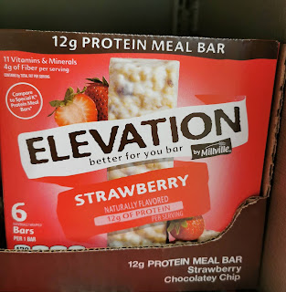 Packaging for Elevation (by Millville) Strawberry Protein Meal Bar, from Aldi