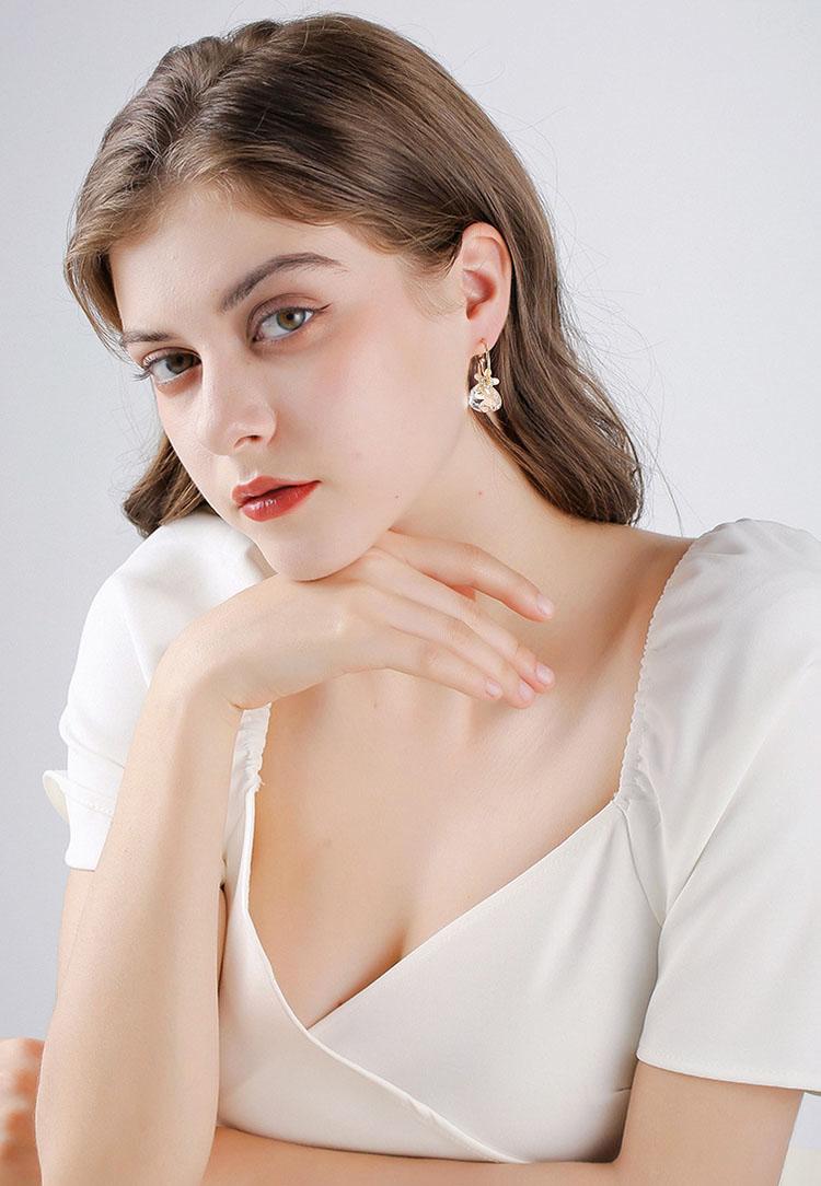 花花百寶袋水晶鋯石耳環
