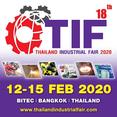 Thailand Industrial Fair 2020 งานแสดงเทคโนโลยีเครื่องจักร เครื่องมือ อุปกรณ์ เครื่องใช้ และบริการด้านอุตสาหกรรมครั้งที่ 18