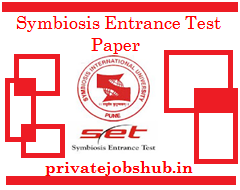 Symbiosis Entrance Test Paper