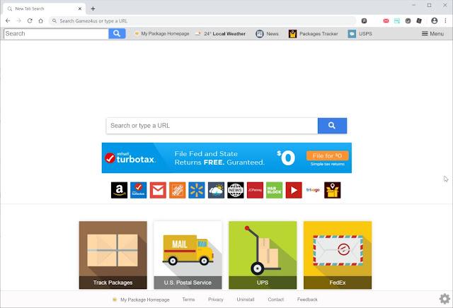 redirecciones de My Package Homepage