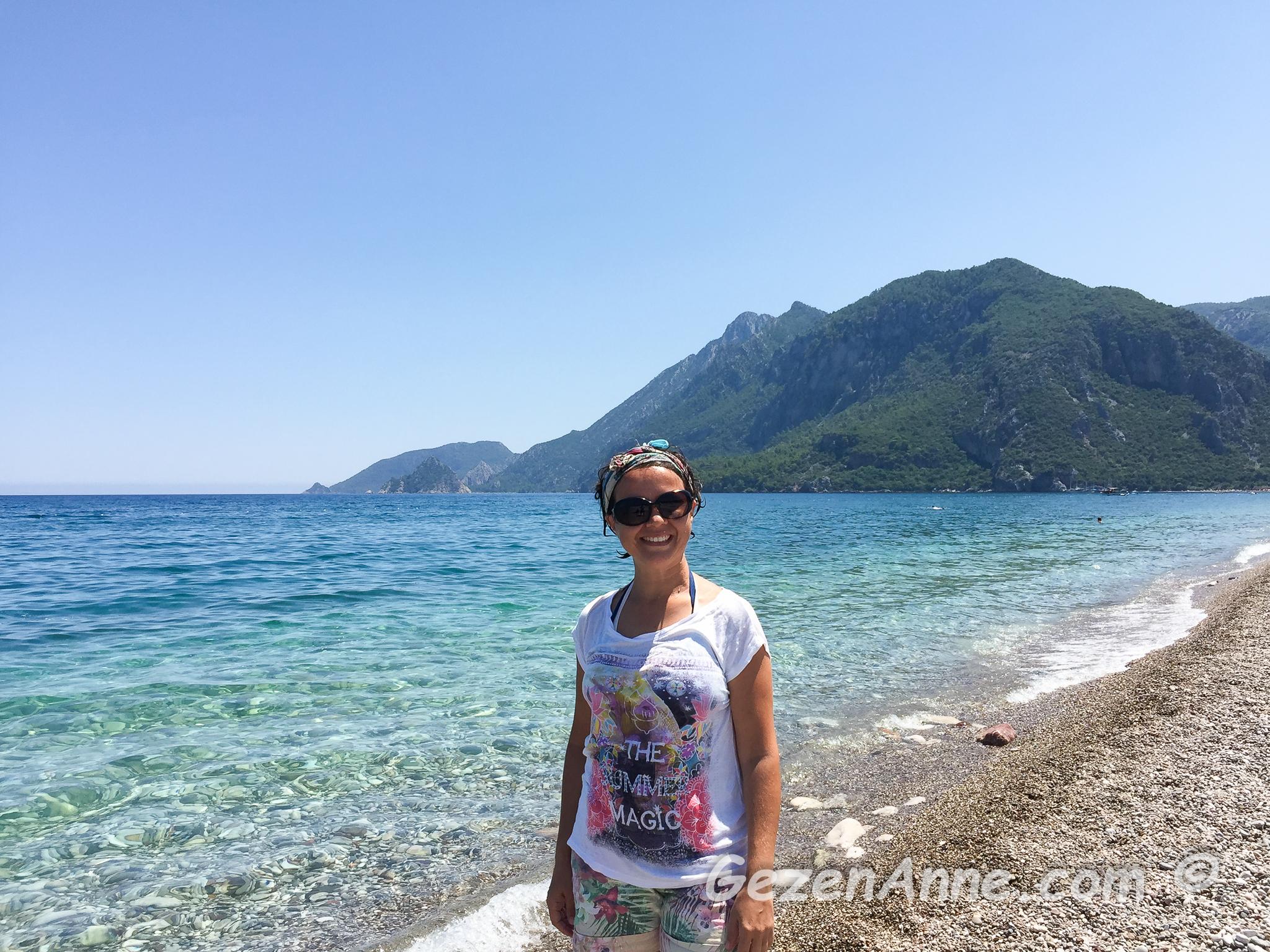 inanılmaz berraklıktaki Çıralı denizi Türkiye'deki en güzel denizlerden biri