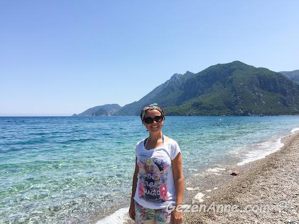Akdeniz'in tertemiz berrak turkuaz suları ile Çıralı denizi, Antalya