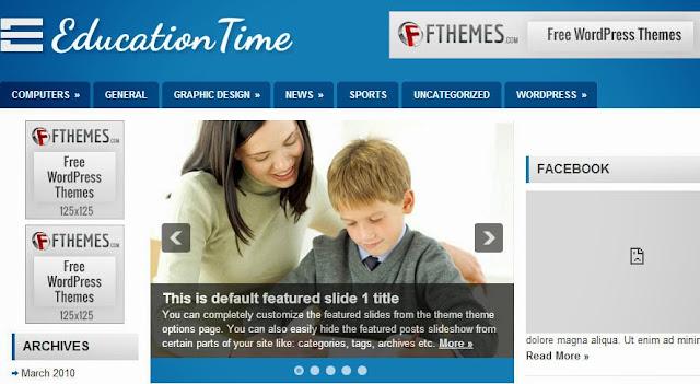 Template Wordpress untuk Sekolah Education Time