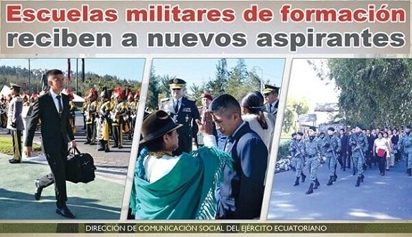 Escuelas Militares de formación reciben a nuevos aspirantes