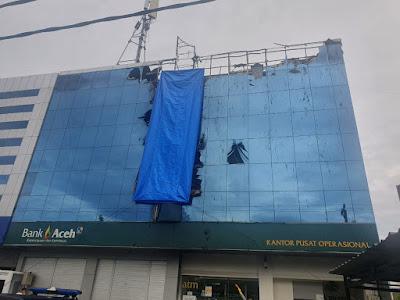 Neon Box Terbakar, Operasional Bank Aceh KPO Tetap Berjalan Normal